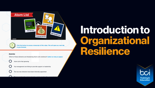 Introduction to Organizational Resilience